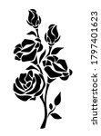 vector black silhouette of...   Shutterstock .eps vector #1797401623