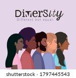 diversity women and men... | Shutterstock .eps vector #1797445543