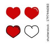 love icon set vector. heart...   Shutterstock .eps vector #1797446083