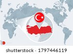 pacific centered world map with ... | Shutterstock .eps vector #1797446119