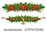 christmas garland set. vector... | Shutterstock .eps vector #1797472540