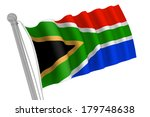 south africa flag on pole... | Shutterstock . vector #179748638
