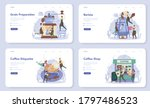 barista concept web banner or...   Shutterstock .eps vector #1797486523