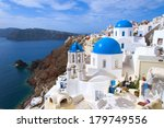 greek church on santorini island | Shutterstock . vector #179749556