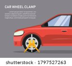 car wheel clamp. side view.... | Shutterstock .eps vector #1797527263