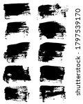 black brush stroke set isolated ... | Shutterstock .eps vector #1797539170
