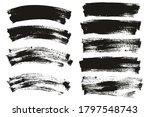flat paint brush thin long  ... | Shutterstock .eps vector #1797548743