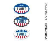 i voted sticker. election...   Shutterstock .eps vector #1797564940