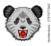 panda head design illustration... | Shutterstock .eps vector #1797577363