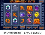 halloween style casino slot...