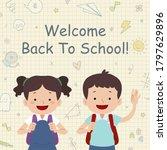 back to school kids go to... | Shutterstock .eps vector #1797629896