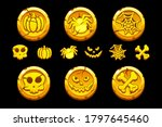 golden coin. set cartoon coins...