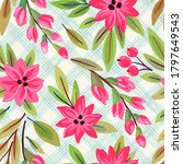 seamless pattern with flowers.... | Shutterstock .eps vector #1797649543