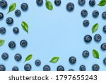 Fresh Juicy Blueberries With...