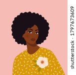 beautiful black woman. young... | Shutterstock .eps vector #1797673609
