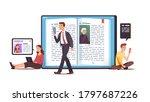 men  women characters read... | Shutterstock .eps vector #1797687226