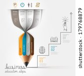 business education pencil... | Shutterstock .eps vector #179768879