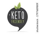 keto friendly hand drawn... | Shutterstock .eps vector #1797689809