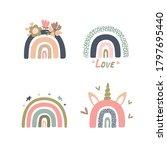 set of pastel rainbows for kids ...   Shutterstock .eps vector #1797695440