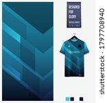 blue gradient geometry shape.... | Shutterstock .eps vector #1797708940
