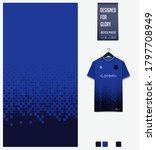 blue gradient geometry shape.... | Shutterstock .eps vector #1797708949