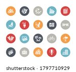 summer vacations icons   ... | Shutterstock .eps vector #1797710929