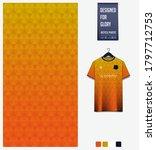orange gradient geometry shape. ... | Shutterstock .eps vector #1797712753