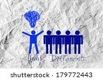 people icons think different...   Shutterstock . vector #179772443