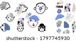 collection of faces made with...   Shutterstock .eps vector #1797745930