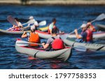 A Process Of Kayaking In The...