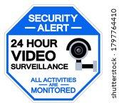 security alert 24 hour video...   Shutterstock .eps vector #1797764410
