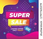 super sale banner template... | Shutterstock .eps vector #1797765379