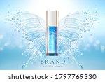 cosmetic bottle over water... | Shutterstock .eps vector #1797769330
