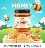 sweet honey ad template  yellow ... | Shutterstock .eps vector #1797769336