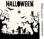 happy halloween text banner ...   Shutterstock .eps vector #1797772846
