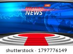 white stage and breaking news... | Shutterstock .eps vector #1797776149