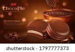 chocolate pie ad template... | Shutterstock .eps vector #1797777373