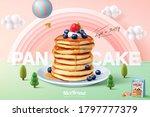 fluffy pancake ad template ... | Shutterstock .eps vector #1797777379