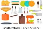 modern various kitchen tools...   Shutterstock .eps vector #1797778879