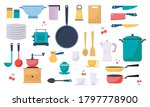 modern various kitchen tools... | Shutterstock .eps vector #1797778900