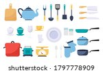 modern various kitchen tools... | Shutterstock .eps vector #1797778909