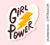 girl power lettering...   Shutterstock .eps vector #1797816139