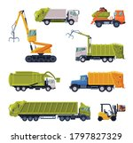 special vehicles set  garbage... | Shutterstock .eps vector #1797827329