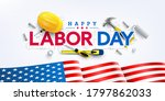 labor day poster template.usa...   Shutterstock .eps vector #1797862033