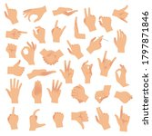Hand Gestures. Various Arms ...