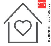 stay at home line icon ... | Shutterstock .eps vector #1797883726