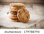 Oatmeal Cookies With Wooden...