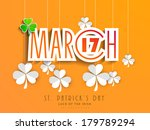 happy st. patrick's day... | Shutterstock .eps vector #179789294