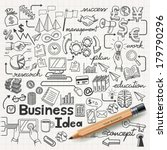 business idea doodles icons set.... | Shutterstock .eps vector #179790296