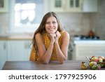 beautiful young brunette woman... | Shutterstock . vector #1797925906